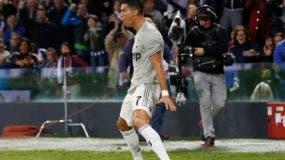 El astro de Juventus Cristiano Ronaldo celebra tras anotar un gol en un partido de la Serie A italiana contra Udinese el sábado, 6 de octubre del 2018.  (AP Foto/Antonio Calanni)