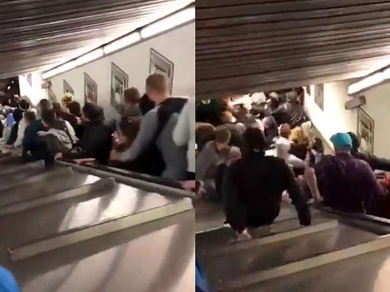 Video: Al menos veinte heridos en Roma tras caerse una escalera mecánica en el metro