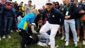 Corine Remande, quien fue atendida en el campo, comentó que le restó importancia al incidente para no desconcentrar a Brooks Koepka cuando el golfista estadounidense se interesó por su salud.
