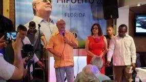 Hipólito Mejía en Miami.