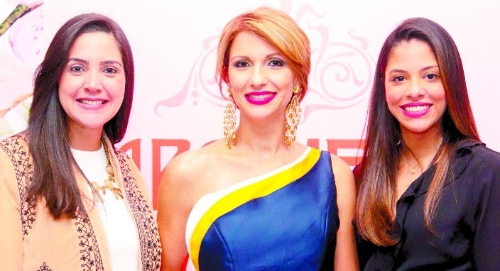 Bella Báez, Evelyn Fernández y Marlyn Martínez.