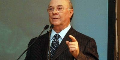 El expresidente Hipólito Mejía habló en Intec. fuente externa