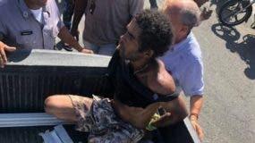 Imagen tomada de un video del hombre golpeado. EXTERNA