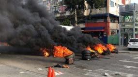 Actividad comercial en la zona fue suspendida por protesta.