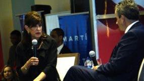 Robin Berstein durante su exposición  en la Cámara Americana de Comercio. Elieser Tapia