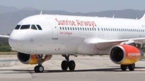 Sunrise Airways opera en el Caribe.