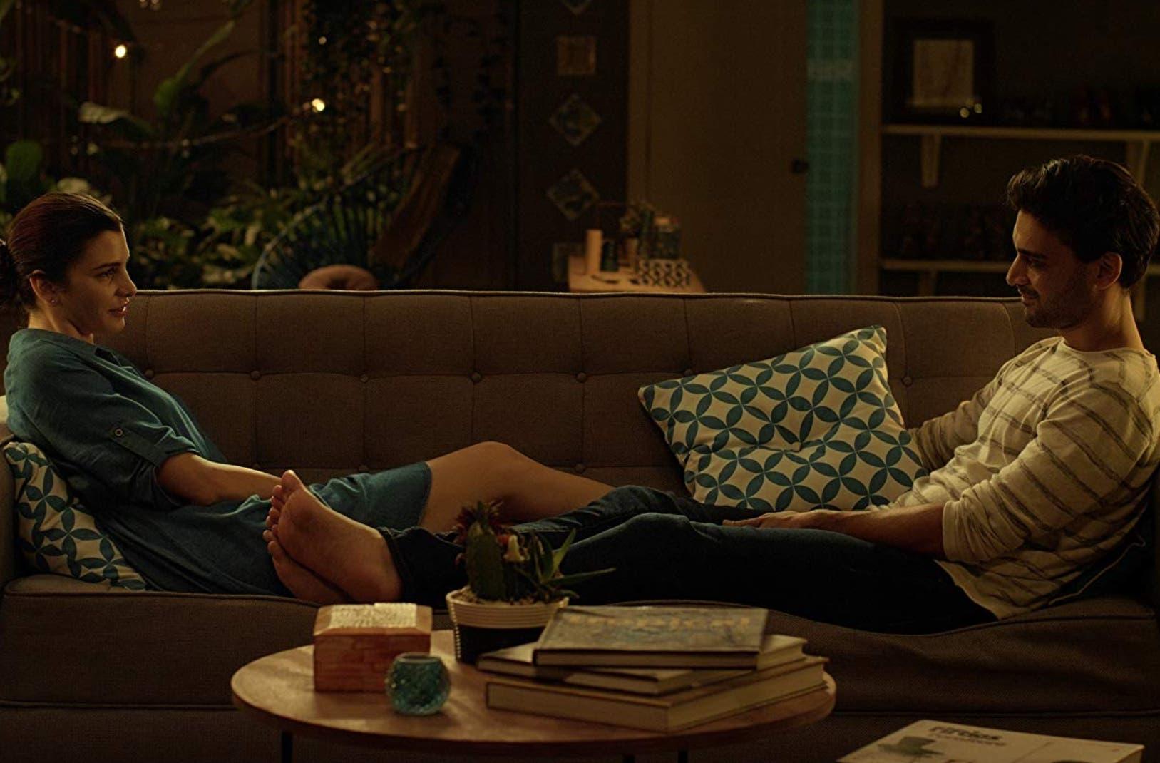 """Escena de la película """"En tu piel"""",  protagonizada por  Eva Arias y Josué Guerrero  .  FUENTE EXTERNA"""