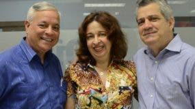Sergio Abreu, Fanny Veloz   y César Curiel.   José de León
