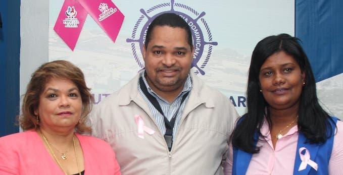 Nícida Beltré, Ruddy Cruz y Digna Segura.