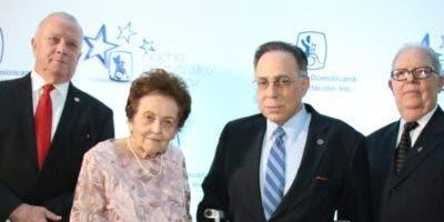 Arturo Pérez, Mary Pérez Vda. Marranzini, Celso Marranzini y José Espaillat.
