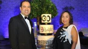 Ramón Almánzar y Zoila Puello durante la celebración.