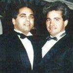 A la izquierda, Sal Magluta y Willie Falcón durante una fiesta en Las Vegas. fuerte externa