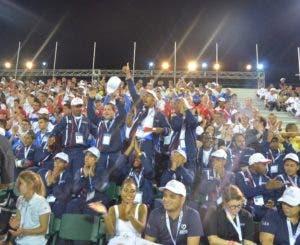 Parte de los atletas que participan en el evento.