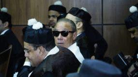 Ángel Rondón durante el conocimiento de  la audiencia preliminar del caso en la Suprema Corte de Justicia.  Elieser Tapia