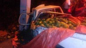 En estas condiciones quedó uno de los vehículos involucrados en el accidente.