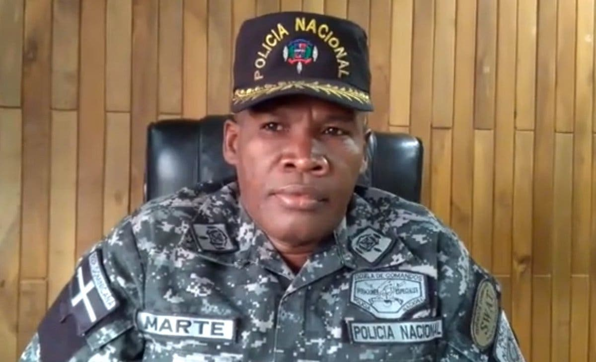 Coronel de la Policía Elías Marte (Palavé). archivo