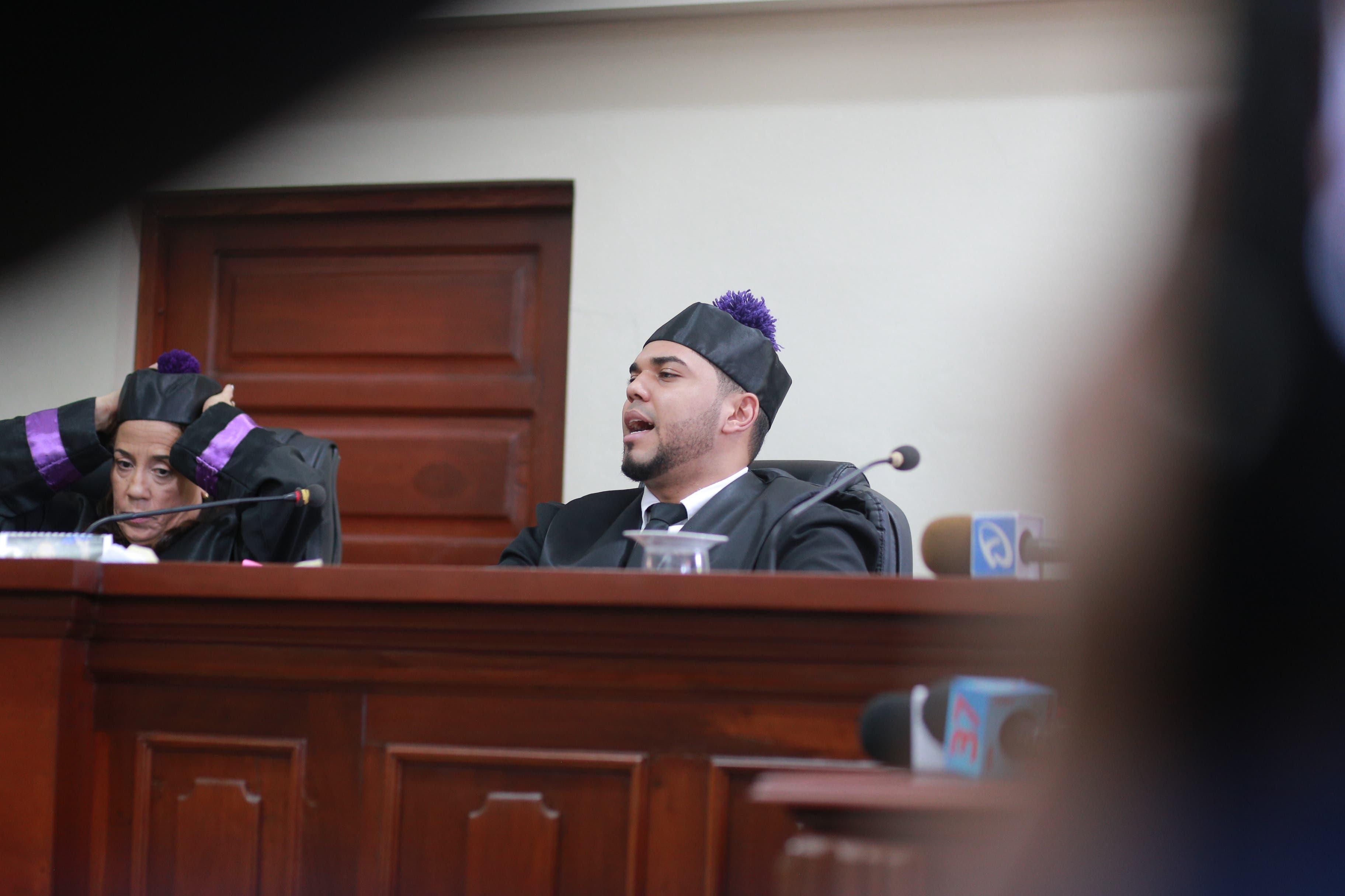 9. El juez Víctor Alfonso Ynoa Gómez leyó sentencia del caso