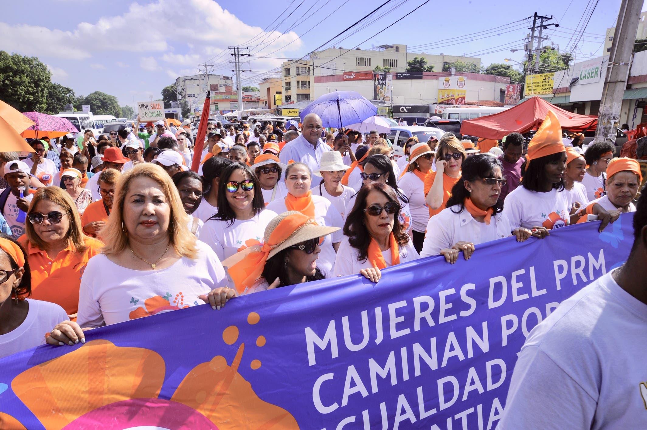 La marcha fue realizada desde la UASD hasta el Congreso Nacional.