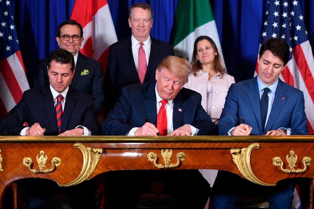 Estados Unidos, México y Canadá firman el tratado comercial T-MEC