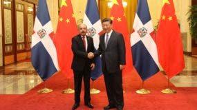 El presidente de China, Xi Jinping, recibe en el Palacio del Pueblo Chino a su colega dominicano Danilo Medina Sánchez