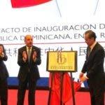 Danilo Medina inaugura embajada en China.