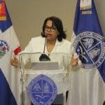 Emma Polanco, rectora de la UASD, no ve razones para que grupos de estudiantes protesten en el campus universitario.