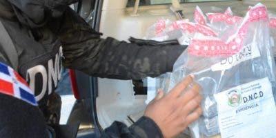 La droga fue decomisad a en varios operativos de interdicción realizados en el municipio Santo Domingo Este.