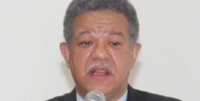 Leonel Fernández, presidente del  PLD.  fuente externa