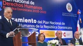 Miguel Vargas habla en actividad en Cancillería. fuente externa