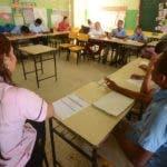 Los estudiantes regresaron a las aulas ayer.  PEDRO SOSA