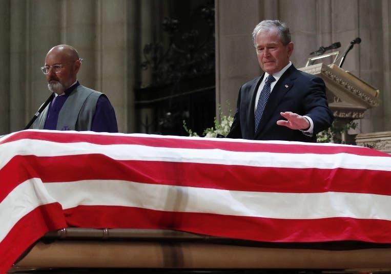 En Washington terminaron los actos oficiales de Bush.