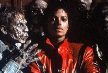 "Michael Jackson en el video del éxito ""Thriller""."