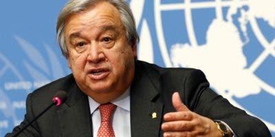 António Guterres, envió sus condolencias a familiares.