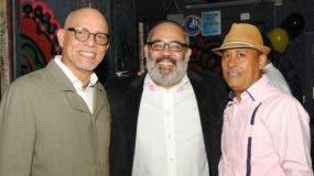 Franklin Soto, Marcos Antonio Puig y Ányelo Matos, durante el aniversario.