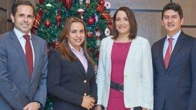 Simone Farci, Rosa María Grullón, Éricka Espaillat y Arvey Benavides.
