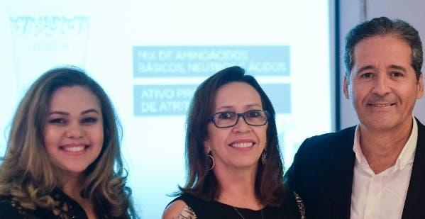 Nieves Cruz,  Lucileme Ribeiro y  Roberto Lorenzo.