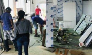 La colocación de alfombras y plafones está avanzada.