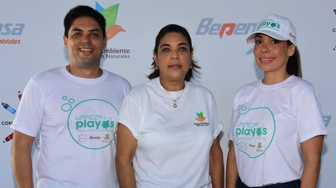 Juan Amell, Evelyn Guerrero y Patricia Mejía.