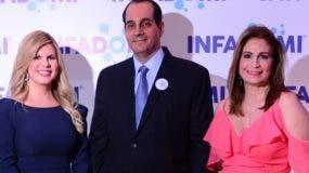 Patricia Mena,  Fernando Espinal  y  Circe Almánzar, ejecutivos de  Infadomi.  fuente externa