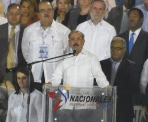 El presidente Danilo Medina deja iniciados los Juegos.