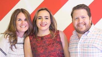 María Lovatón, Priscila Diep y John McFarlane.
