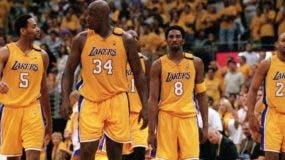 Integrantes de los Lakers, que ganaron de 2000 a 2002.