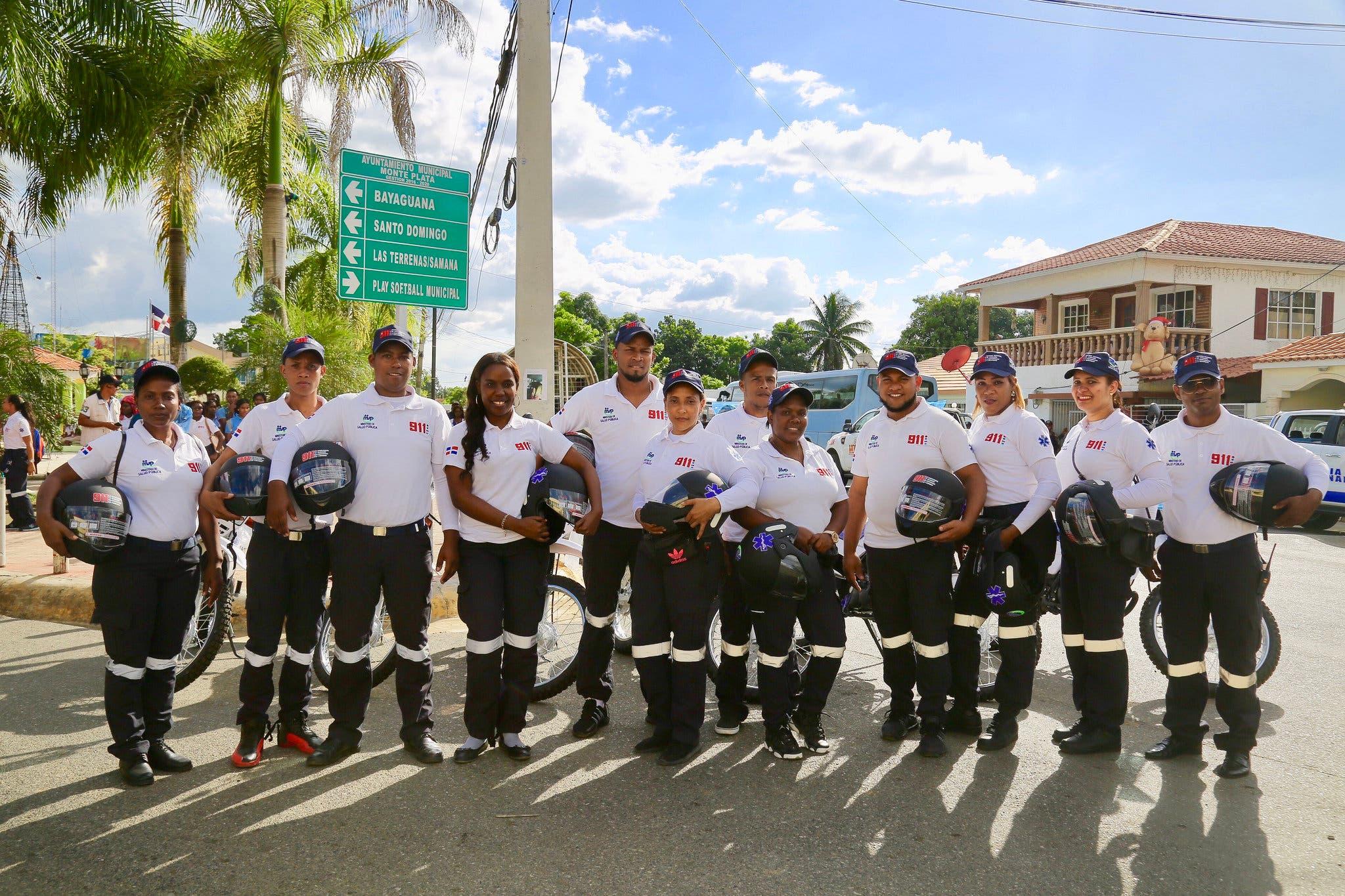 Presidente Danilo Medina deja en funcionamiento el Sistema 911 en Monte Plata