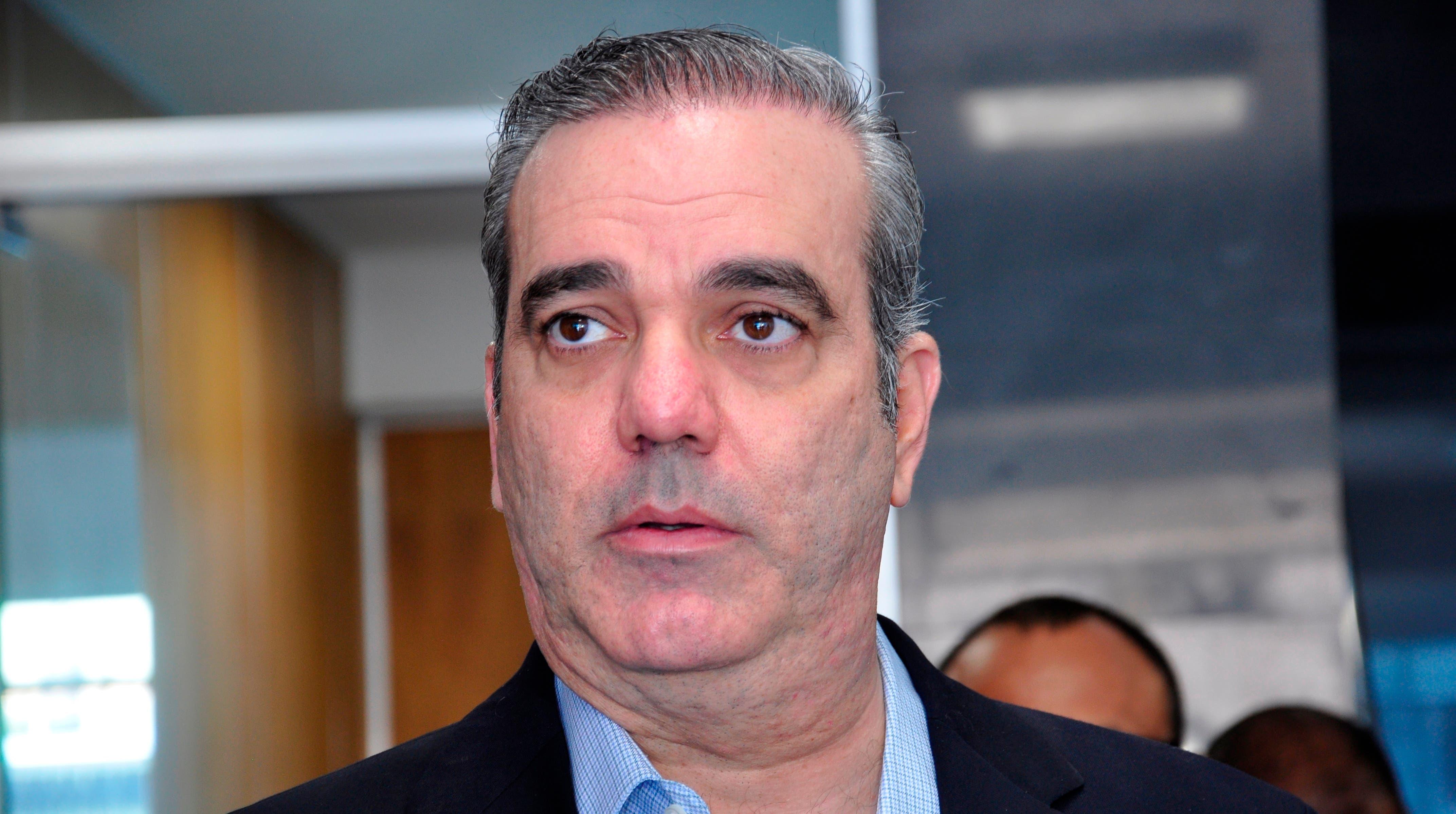 Luis Abinader    ofrece declaración a la prensa.    Fuente Externa