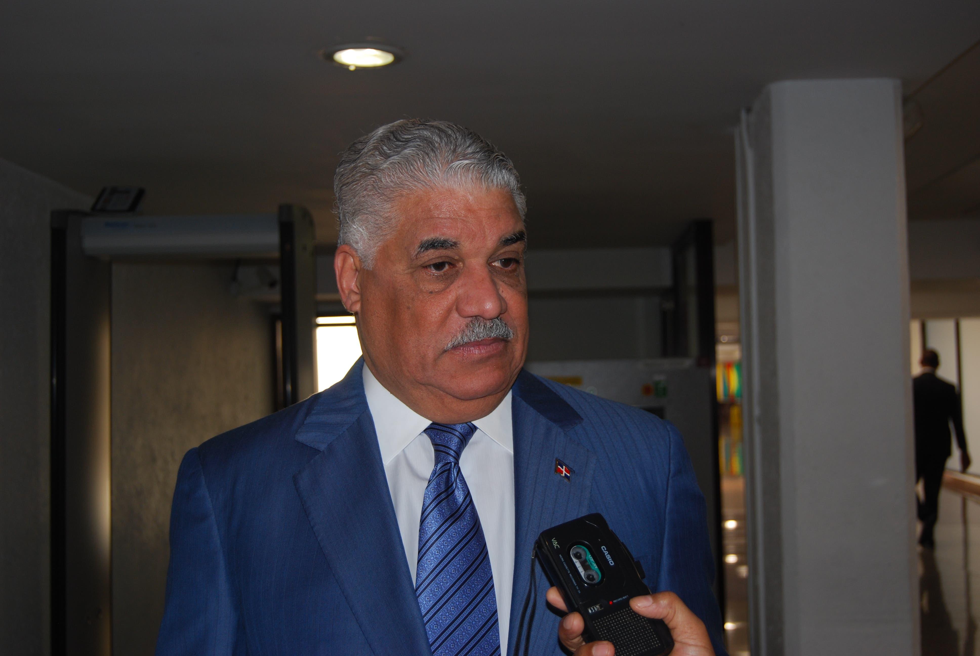 Miguel Vargas, ministro de Relaciones Exteriores.
