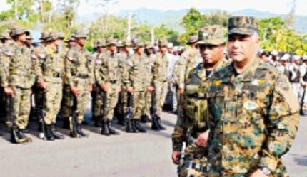 Militares serán desplegados en toda la frontera. josé de león