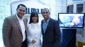 Triana Aybar CEO de Palma.do, junto a sus socios Víctor Villanueva y Raymond Ratti.