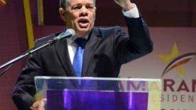 El aspirante a la candidatura presidencial por el PLD para el 2020, Carlos Amarante Baret. Foto: José De León.