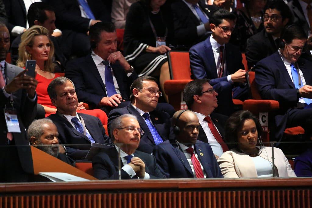 Danilo Medina junto al mandatario haitiano Jovenel Moise, y otros invitados a la toma de posesión.