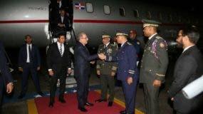 Danilo Medina habló a su llegada al país.